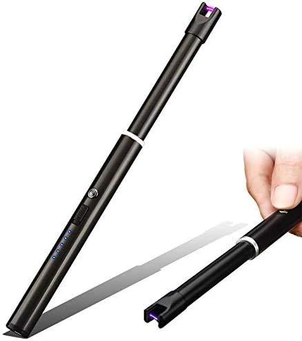 ACITMEX Elektrisches Kerzenanzünder, Winddichtes Feuerzeug, USB wiederaufladbar – USB-Zigarettenanzünder für Kerzen, Zuhause, Küche, Grill, Camping, Herd