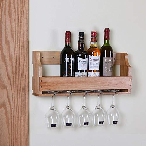 QWERTYUIOP Sostenedor de Copa de Vino de Roble sostenedor de Copa de Vino Rojo sostenedor de la Botella de Vino del sostenedor del cubilete (Color del Registro) los 55 * 23 * 11.5cm