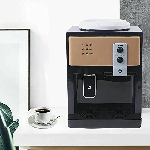 Dispensador eléctrico de agua caliente y fría, dispensador de agua caliente de 550 W, dispensador de agua eléctrico, espacio caliente y frío, ideal para té, café y agua fría