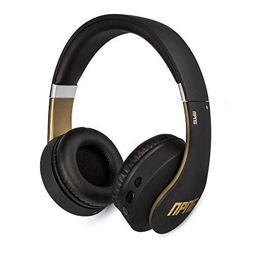 No Proof No Glory NP-2 Bluetooth draadloze over-ear koptelefoon   Stereo   instelbaar   Flex-anti-aanval kabel   microfoon   afstandsbediening - zwart/goud (VEP-022-NPNG)
