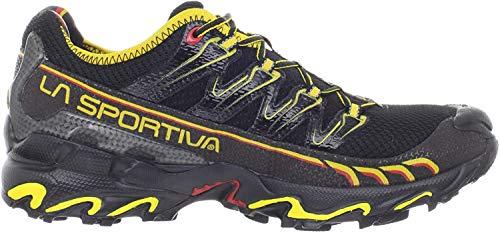 La Sportiva Ultra Raptor, Zapatillas de Running Hombre, Negro/Amarillo, 43