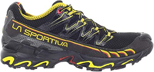 La Sportiva Ultra Raptor Men's Mountain Trail Running Shoe, Black/Yellow, 47.5