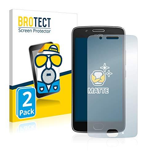 BROTECT 2X Entspiegelungs-Schutzfolie kompatibel mit Motorola Moto G5 Bildschirmschutz-Folie Matt, Anti-Reflex, Anti-Fingerprint