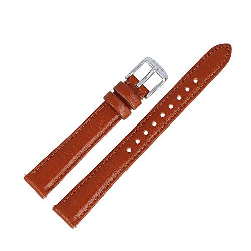 Fossil Reloj de pulsera 14mm de piel marrón–Banda de reloj es de Tiffany