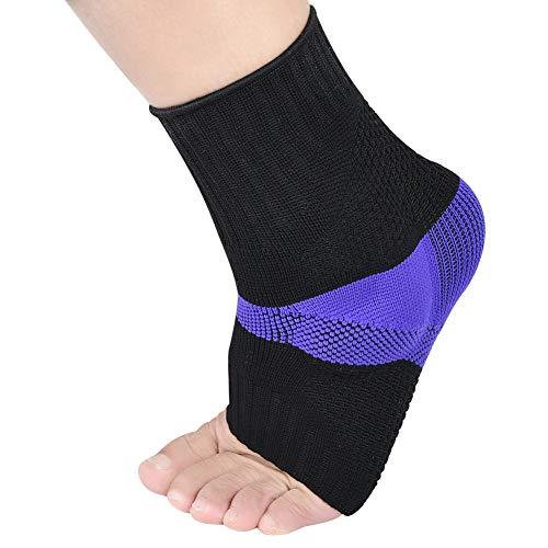 Soumit - Calcetines de tobillo de silicona para evitar lesiones en los pies, como los talones, mejora la circulación sanguina y reduce la inflamación, 46/50 Eu, 46/50 EU