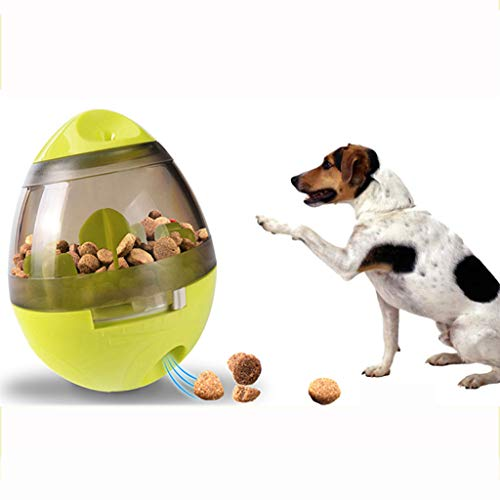 AA-Pet Food Ball Jouet interactif pour Chien avec Distributeur de Nourriture, Balle pour Nourriture pour Animaux de Compagnie, Balle de Traitement IQ, Vert