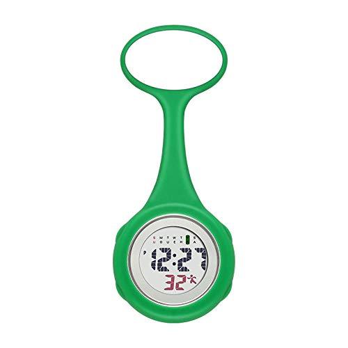 Cxypeng Pulsuhr Krankenschwester,Elektronische Digitale Taschenuhr Schwesternuhr, Doktor Silikonuhr-grün,Damen Krankenschwester FOB Uhr