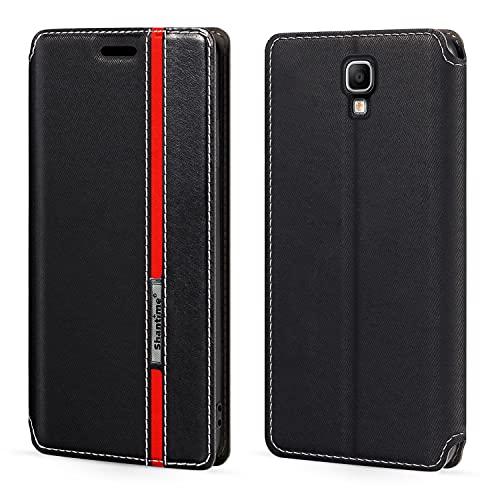 Schutzhülle für Samsung Galaxy Note 3 Neo LTE+ N7505 (5,5 Zoll), Magnetverschluss, Leder, mit Kartenfach