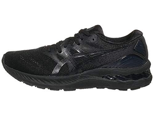 ASICS Women's Gel-Nimbus 23 Running Shoes, 5M, Black/Black