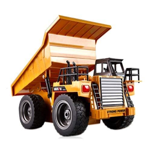 Lihgfw Fernbedienung Bagger Engineering Fahrzeug Ladung Transport Truck Pull Bodenkippel LKW-Bagger Kinderspielzeug Fernbedienung Auto Modell Kinder Geschenk Gelb 28cm (Color : Yellow)
