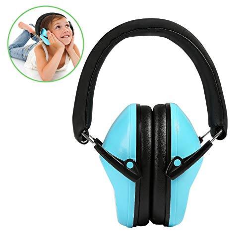 Kinder Gehörschutz, Ballery Kinder Rauschunterdrückung Gehörschutz, Ohrenschützer für Kinder, verstellbare Stirnband Gehörschutz für Kinder - Blau