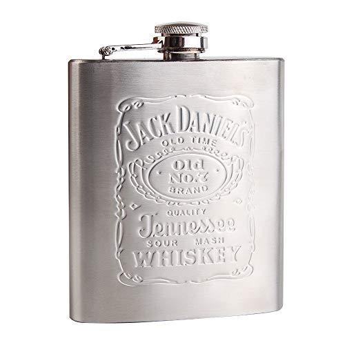 7 oz portátil cadera en acero inoxidable con caja como regalo whisky honesto Botella Frasco rusa vino tazas Wisky Jerry Can Frascos de la cadera petaca