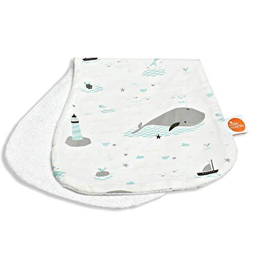 millemarille Kuscheltuch & Spucktuch aus Bambusfrottee | antibakteriell & saugstark, Ökotex 100 | hygienische Alternative zu Mullwindeln & Moltontüchern | für Baby-Erstausstattung | Save The Whales