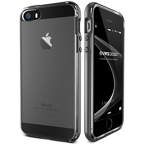 VRS Design - Custodia per iPhone SE, iPhone 5S, iPhone 5, colore: Argento scuro