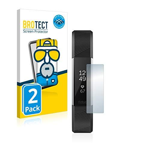 BROTECT Full-Cover Schutzfolie Matt kompatibel mit Fitbit Alta HR/Alta (2 Stück) - Full-Screen Bildschirmschutz-Folie, 3D Curved, Anti-Reflex
