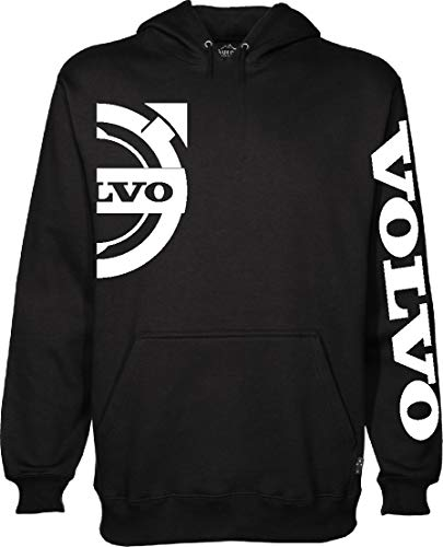 Generico Sweatshirt Hood Volvo Logo Holland Truck Style. von S bis XXXL (L, Schwarz)