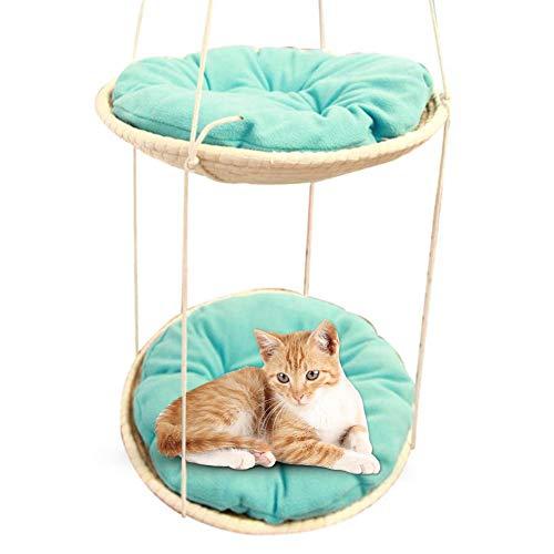 Erfula Katze Hängematte, Katzenhängematte Abnehmbare Waschbar Haustier Bett Hängen Bett Mit Kissen Katzen Haushalt Für Sommer Und Winter