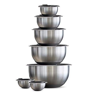 Tramontina Mixing Bowls, 14 Pc, Gray