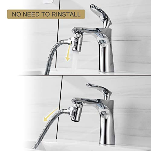 JIANAN Sink Sprayer Hose 3-Modes High Pressure Filter Bathtub Faucet Rinser 6.5 Feet Shower Hose Good for Hair Washing and Pet Washing,Sink Hose Attachment for Handicapped, Elderly, Injured, Toddlers