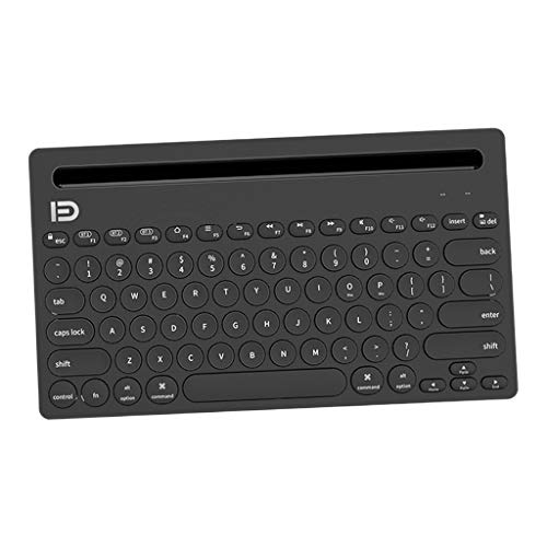 #N/A Multi-Device Bluetooth Keyboard, Wireless Bluetooth Keyboard Switch to 3 Devices for Cellphone, Tablet, PC, Smart TV, MacBook iOS Android Windows - Black