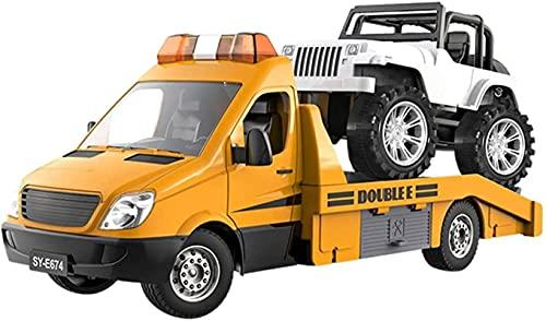 FBUWX Piezas de Repuesto RC 1/18 Remolque RC Recargable Tractor Road Wrecker Toys Camión Off-Road Car Truck Transporter Sound Light Control Motor Skills para niños, RC Spare Accessories Eficiente