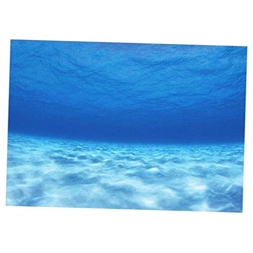 LOVIVER 3D One Side Fish Tank Background Adhesive Underwater Tank Background Poster Backdrop Decoration Paper - 76x56cm
