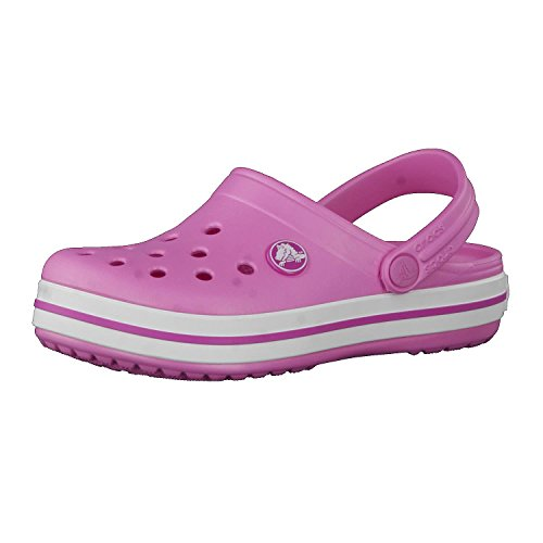 Crocs Crocband Clog Kids, Zoccoli Unisex-Bambini, Rosa (Party Pink), 24/25 EU