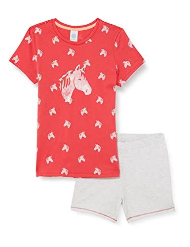 Sanetta Mädchen kurz rosa Baby-und Kleinkind-Schlafanzüge, Coral pink, 116