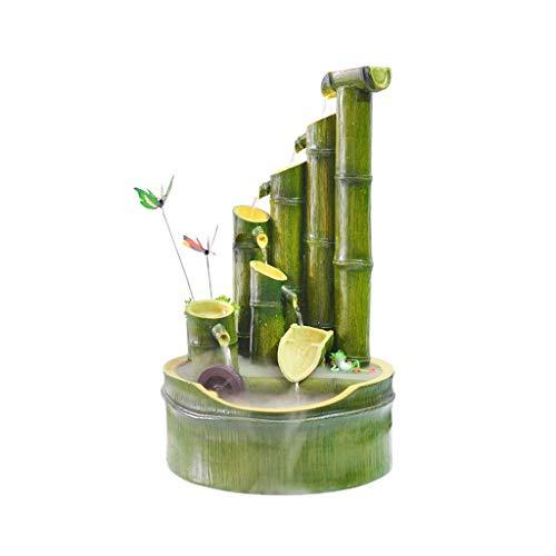 YYhkeby Fuente de mesa creativa de resina para sala de estar, decoración de escritorio, fuente...