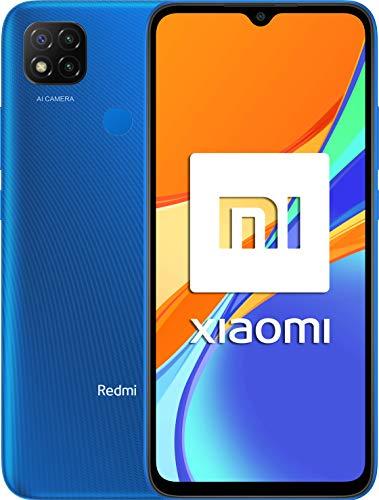 """Xiaomi Redmi 9C NFC-Smartphone con Pantalla HD+ de 6.53"""" DotDrop (3GB+64GB, Triple cámara trasera de 13MP con IA, MediaTek Helio G35, Batería de 5000 mAh, 10 W de carga rápida), Azul [Ver.Española]"""