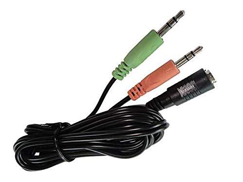 PC-Splitter (1,8 m lang) für Astro A10 A40, Sennheiser, SteelSeries, Turtle Beach und ähnliche Gaming-Headsets: Gaming Headset auf PC Adapter – 3,5 mm auf Dual 3,5 mm