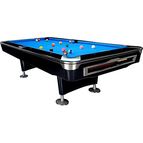 Feelcomfort Billardtisch Nevada 9ft (Blau/Schwarz) Pool Snooker Schieferplatten inklusive Zubehörset