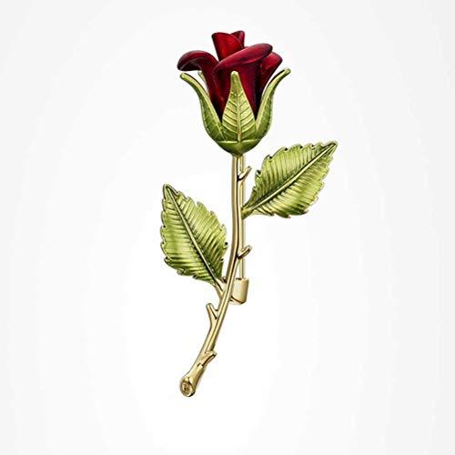 ZAIZAI Broche De Rosa Elegante Y Exquisito Abrigo De Lana para Mujer Accesorios Broche De Marca Grande