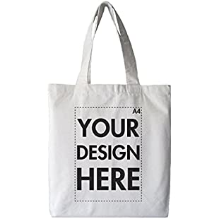Create Your Own Custom Personalised Tote Shopping Bag! Any Text, Any Photo, Approx A4 Print Size, White Bag (Double Sided Print)