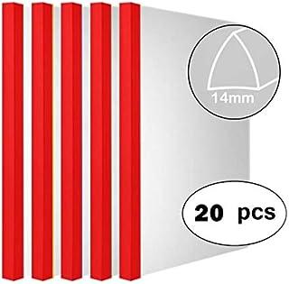 Sliding Bar (14mm) Clear Report Covers Transparent Plastic File Folder (80 Sheet Capacity,20c), Resume Presentation File Folders Organizer Binder for A4 Size Paper