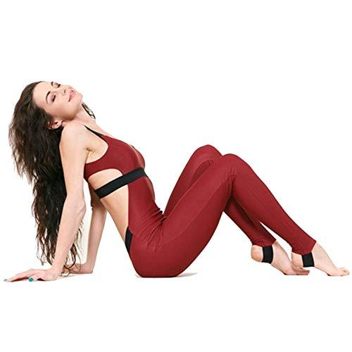 Chengzuoqing Conjunto de Ropa Deportiva para Mujer Casual Yoga Gym Suit Jumpsuit Pantalones Elasticated Halter Correa Stitching Sports para Correr Fitness (tamaño : S)