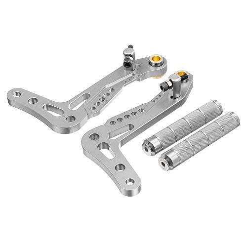 Pedales de automóviles, Aluminio CNC Freno y acelerador Conjunto Negro Pedales de oro 2pcs 5 Color Universal Go Kart Racing Pedales Billet (Color Name : Silver)