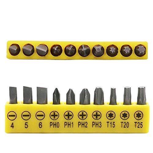 DFYYQ Sockel-Schraubendreher-Set L-förmigen Winkelkopf Doppelschlüssel-Fahrer flaches Phillips Torx-Schraubendreher Hand-Reparatur-Werkzeug-Set (Color : Screwdriver)
