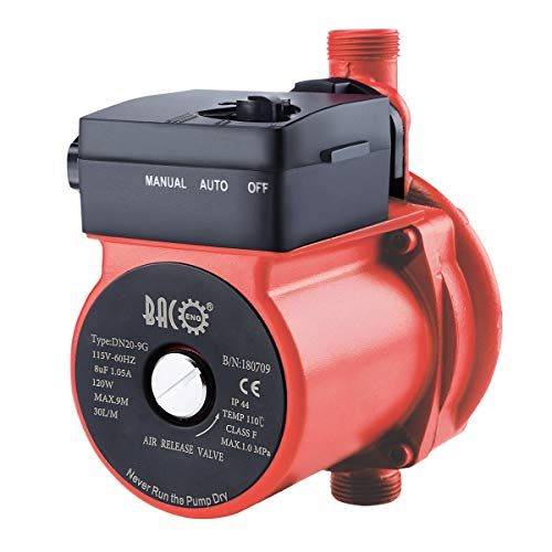 BACOENG 3/4'' 115V Hot Water Recirculating Pump with Built-in Automatic Flow Switch