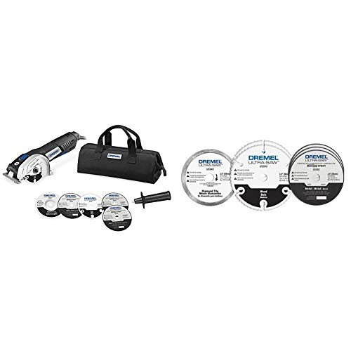 Dremel US40-03 Ultra-Saw Tool Kit with 5 Accessories and 1 Attachment & US700 Ultra-Saw 6-Piece Cutting Wheel Kit