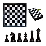 Made of Plastic, safe and durable. 5.2 x 5.04 inch, mini and protable. Foldable chess board, easy to carry. Funny games between family and friends. Chess board war game that stimulate intelligence.