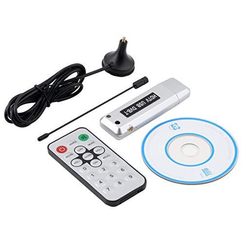 QinKingstore USB 2.0 DVB-T帯域幅受信(6/7/8 MHz)ラジオデジタルTVレシーバーHDTVチューナースティックアンテナIRリモートタイムシフトブラック
