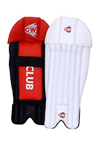 CW Club PVC Facing Light Weight Wicket Keeping Leg Guards/Pads Senior/Men's/Teen's/Adult Size Ideal for 14+ Yr Child/Sports Players