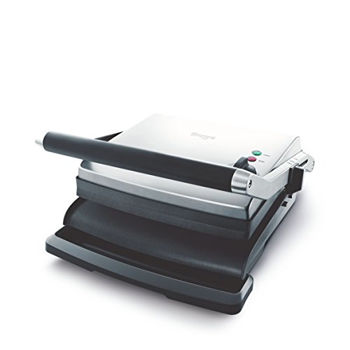 Sage Appliances SGR250 the Adjusta Grill und Press, Gebürstetes Edelstahl