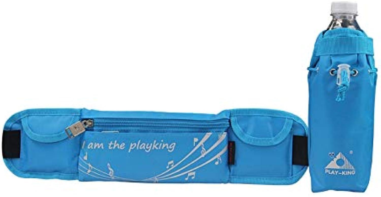 Fealliancement Outdoor Bags Outdoor Bags Playking 1358 MultiFunctional Unisex Running Outdoor Sports Water Bottle Waist Bag (Day Folding Flower) (color   bluee)
