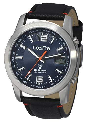 Coolfire - Reloj Solar atómico Reloj Militar con energía Solar controlada por Radio (1532 C)