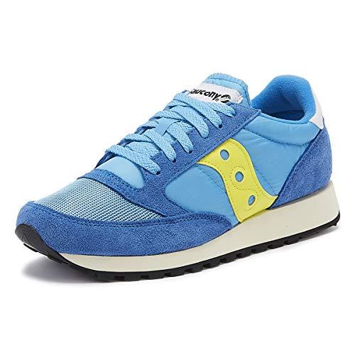 Saucony Jazz Original Vintage, Sneakers Unisex-Adulto, Blue Yellow 62, 38 EU
