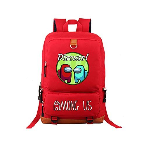 FUFU Among Us Backpack School Bag Boys Girls Nylon Waterproof Student Rucksack Fashion Casual Backpack Ladies Men Youth Durable Backpack Gift Party Fitness/A
