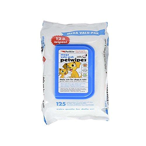 Petkin Haustier-Reinigungstücher, 125Stück