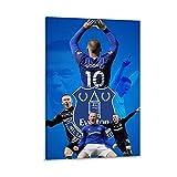WATERINK Wayne Rooney Everton Poster, dekoratives Gemälde,